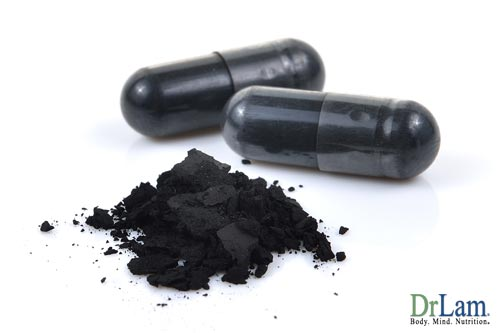 Heavy metal poisoning can be removed by charcoal