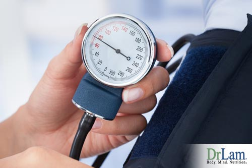 A sphygmomanometer checking for low blood pressure in adrenal fatigue
