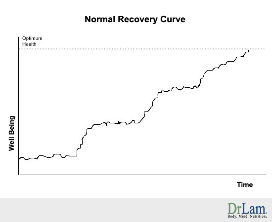 A typical Adrenal Fatigue recovery curve