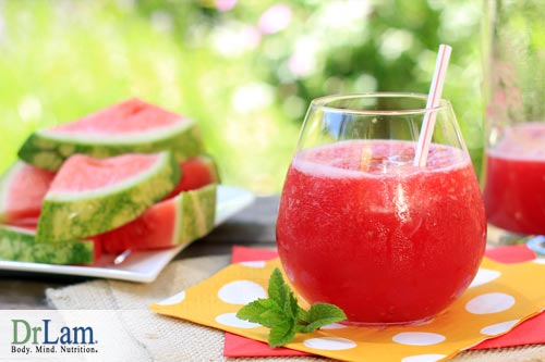 There are many benefits to drinking watermelon