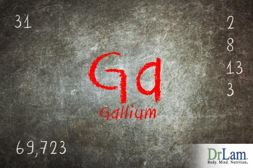 Heavy metal poisoning can be caused by gallium