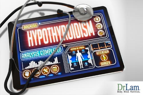 Hypothyroidism and low thyroid gland function