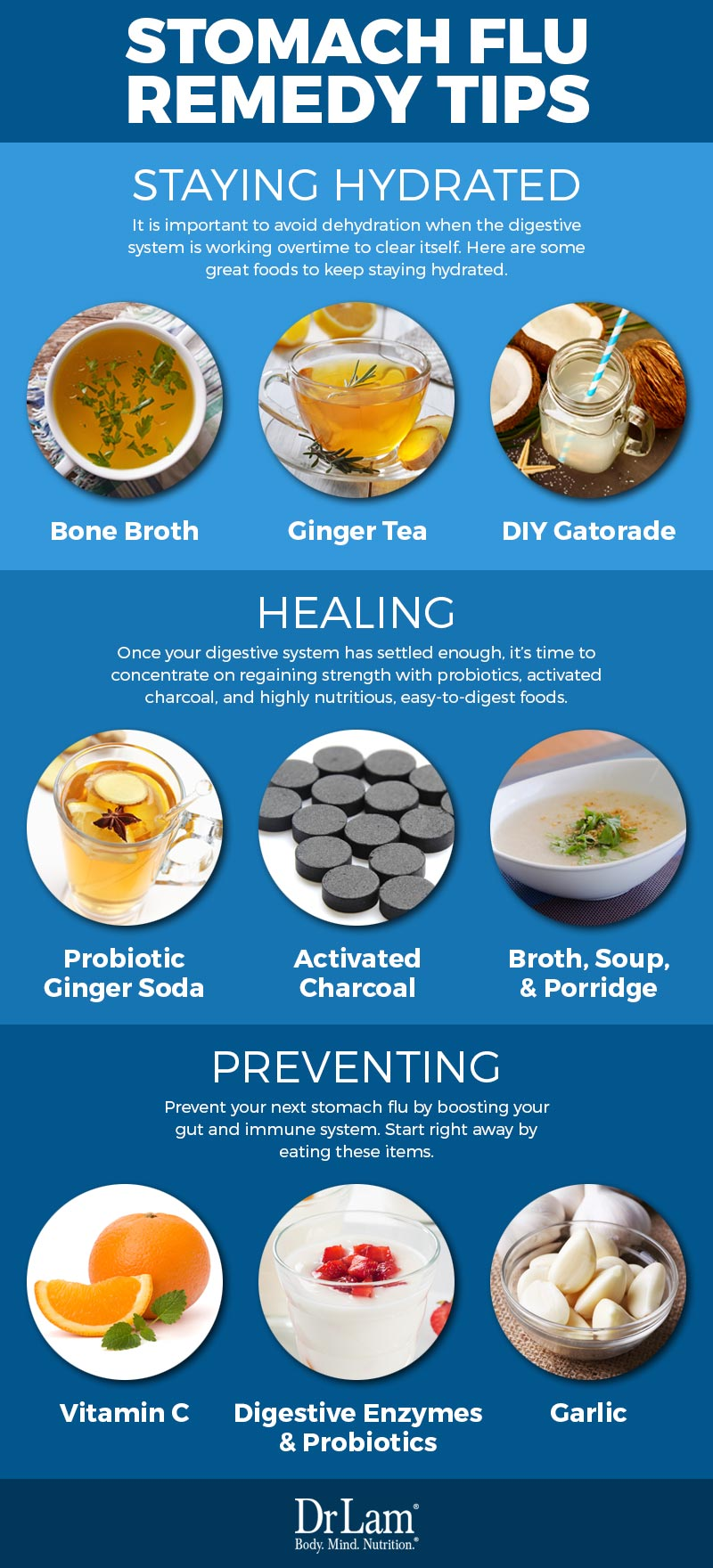 Check out this easy to understand infographic about stomach flu remedy tips