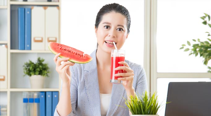 Improve your health by drinking watermelon