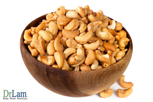 Healthy snack ideas for Adrenal Fatigue include nuts