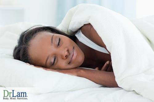 A sleeping woman who took passion flower extract to get better rest
