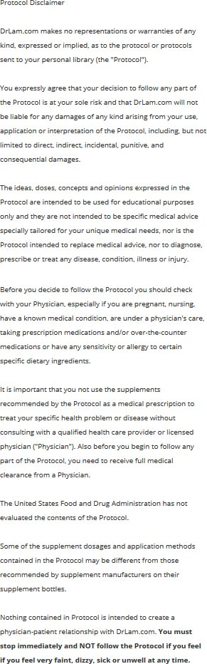 Read this protocol disclaimer especially if you have Adrenal Fatigue or other medical conditions