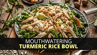 Mouthwatering Turmeric Rice Bowl